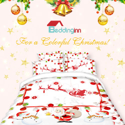 Buy a colorful Christmas bedding from Beddinginn.com